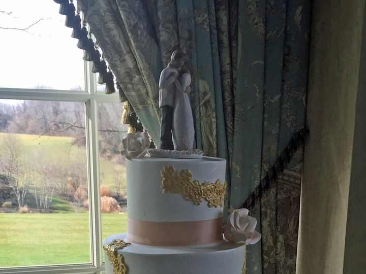 Tmx 1498935795865 Wedding Cakes Ribbons 2 Northfield, New Jersey wedding cake