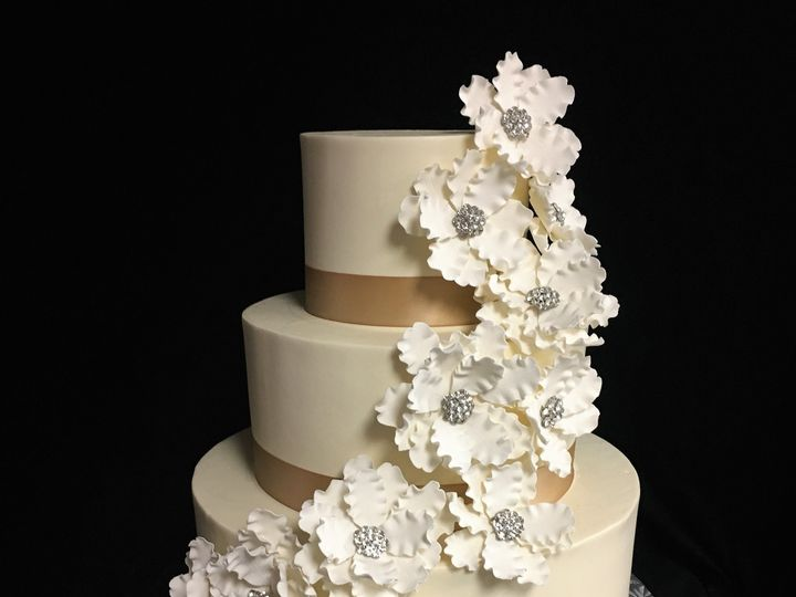 Tmx 1498935846182 Wedding Cake Sugar Flowers With Stones Northfield, NJ wedding cake