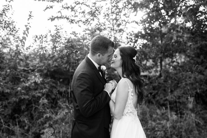 Black and white of couple
