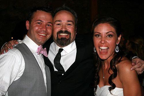 DJ Jeremy Ryan with bride an groom- Elan & Amberlie.