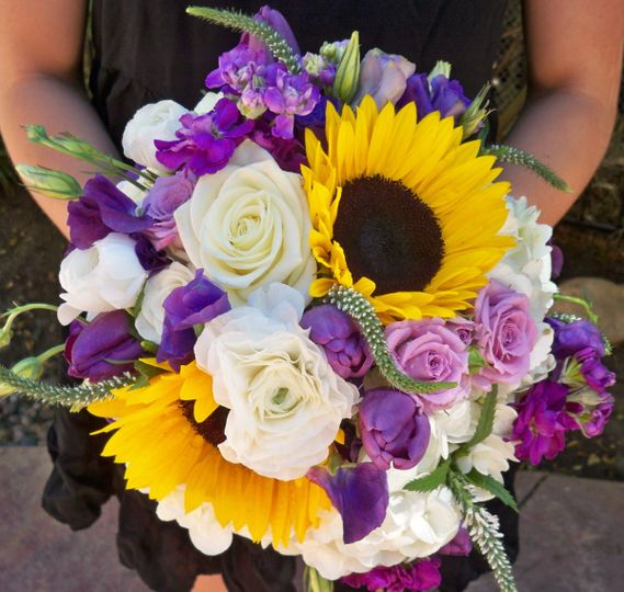 Purples & Sunflowers