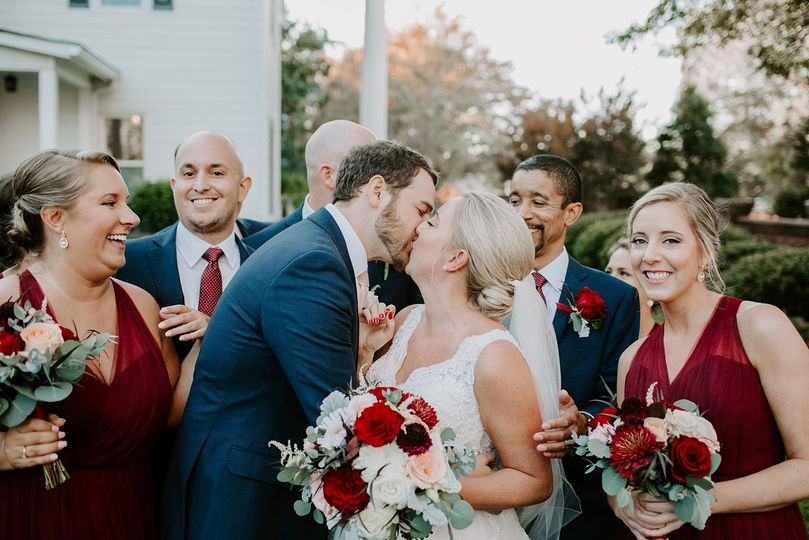 Blush & Burgundy Wedding