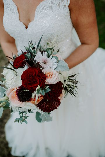 Fall brides bouquet
