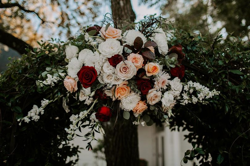 Arbor flowers garden wedding
