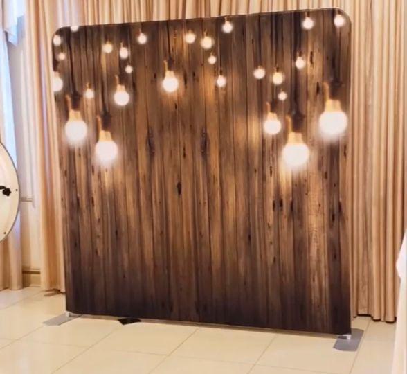 Wood with lights printed bckdp