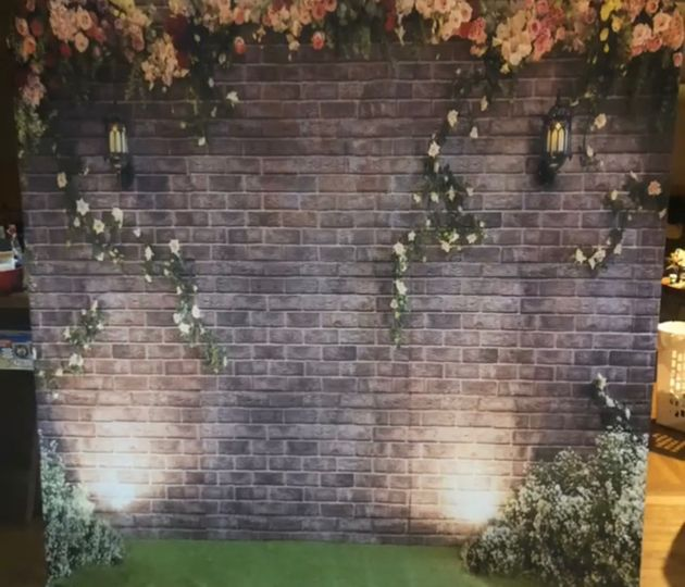 Garden Brick printed backdrop