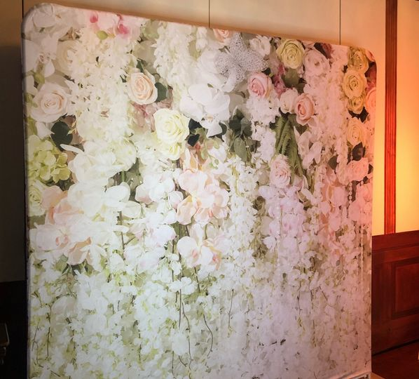Flower wall printed backdrop