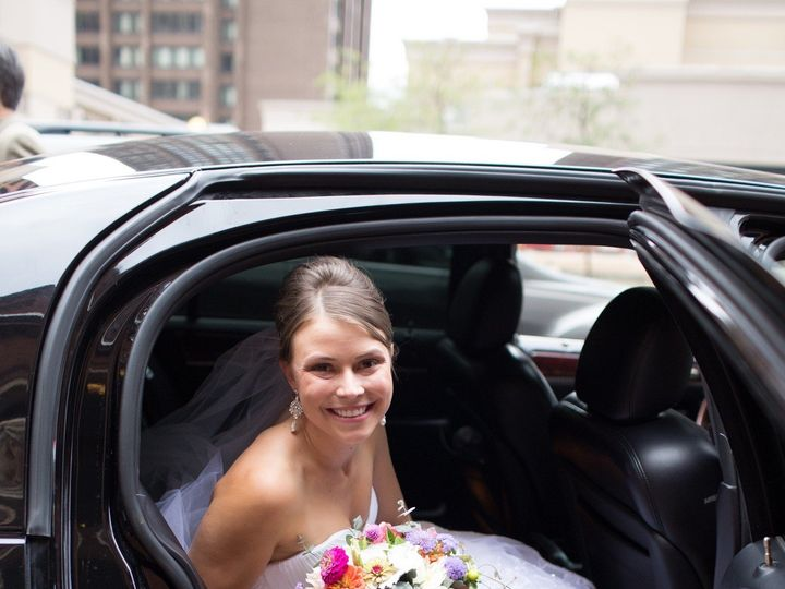 Tmx 1416434303369 Bride In Our Black Sedan Amber Herzer Frederick wedding transportation