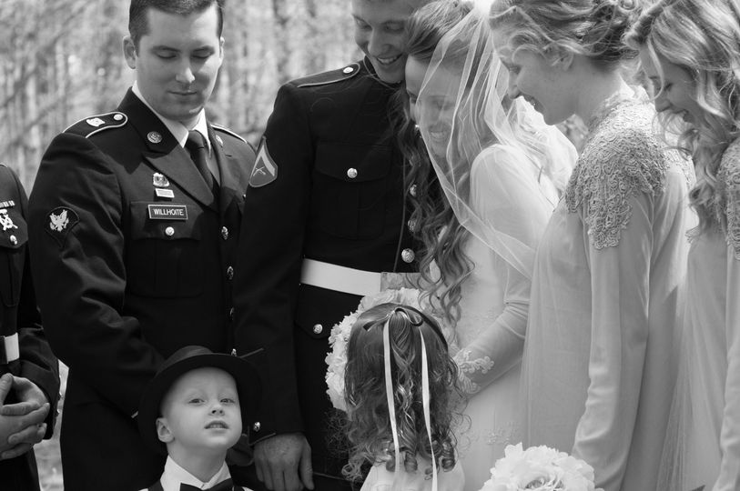 military bridal party