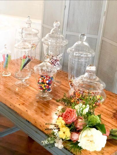 Apothecary Jars Candy Bar