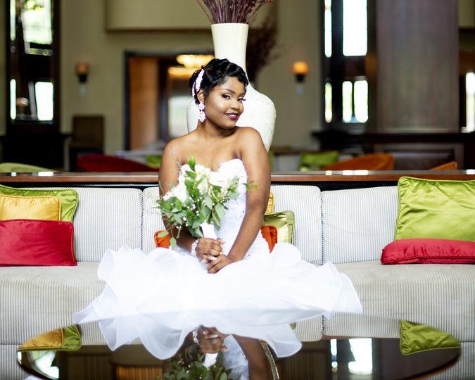 Bride in the British Colonial Hotel