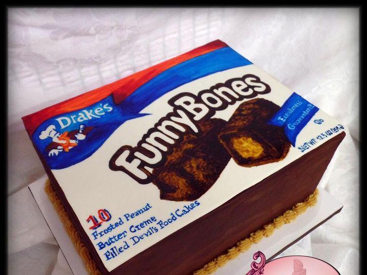 Tmx 1429052080129 Funny Bones Cake W Logo Rockaway, NJ wedding cake