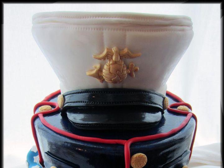 Tmx 1430439168060 Us Marine Groomsman Cake W Logo Rockaway, NJ wedding cake