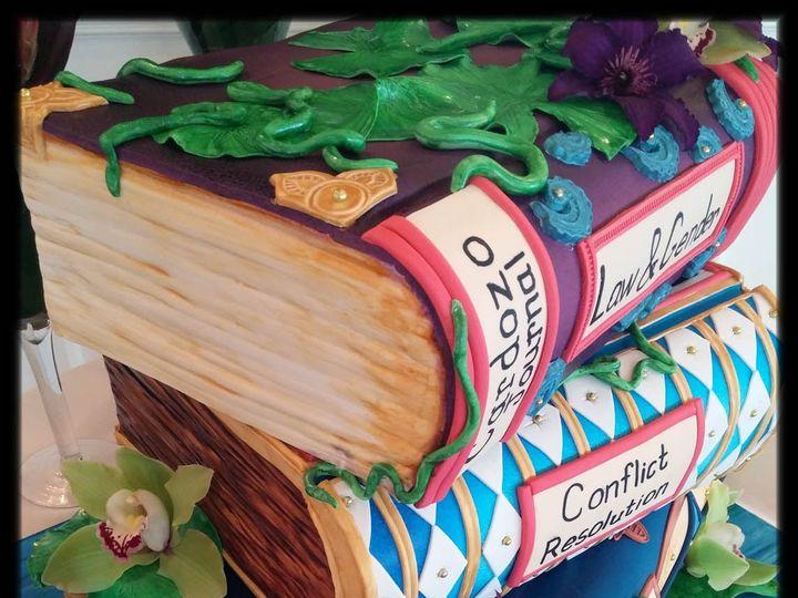 Tmx Law Books Close Up W Logo 51 757949 Rockaway, NJ wedding cake
