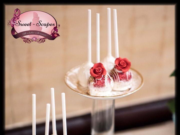 Tmx Rose Cake Pops W Logo 51 757949 Rockaway, NJ wedding cake
