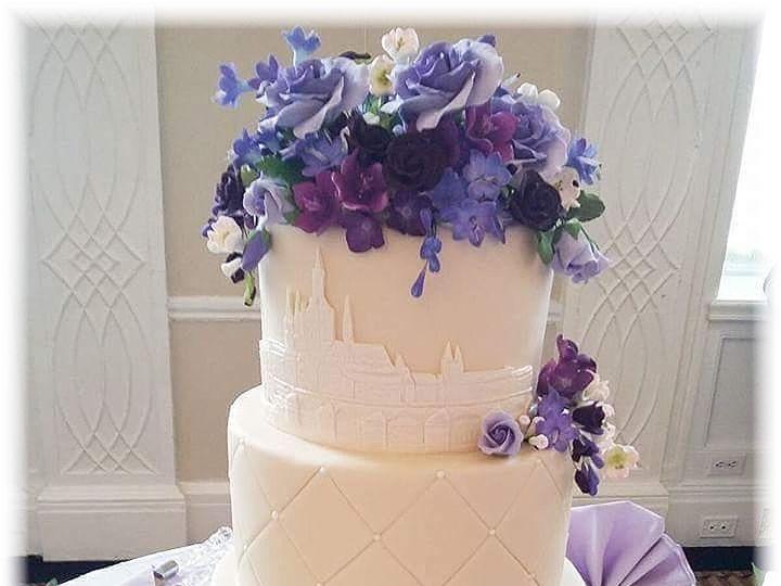 Tmx Taj Charles Wedding Cake W Logo 51 757949 Rockaway, NJ wedding cake