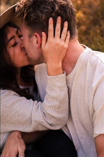 Couple sharing a kiss