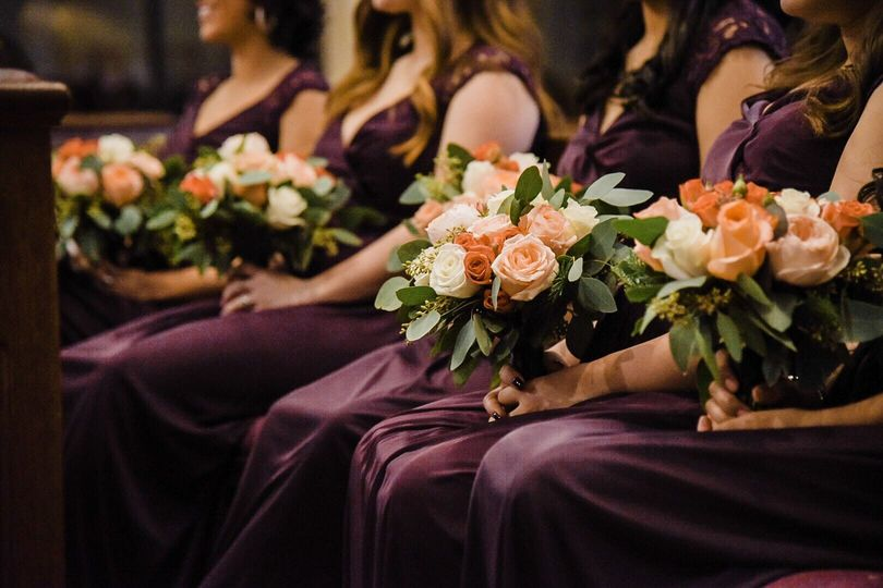 Lovely bridesmaids and florals