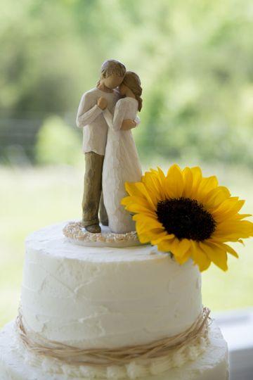 Rustic buttercream wedding cake Roanoke, VA