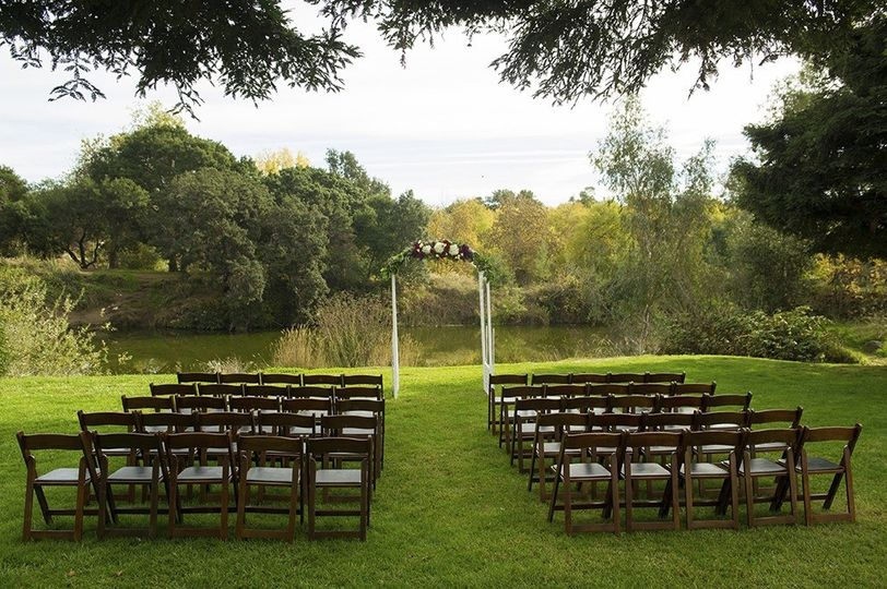 River View Event Garden Ceremony