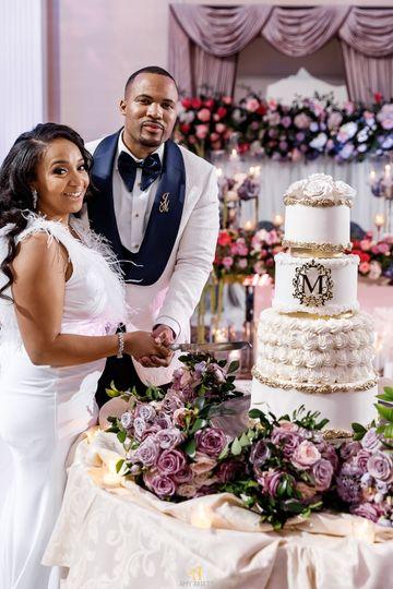 Monogram on Cake