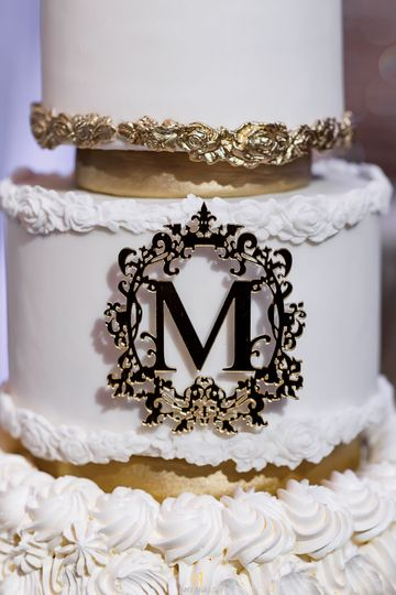 Monogram converted to cake top