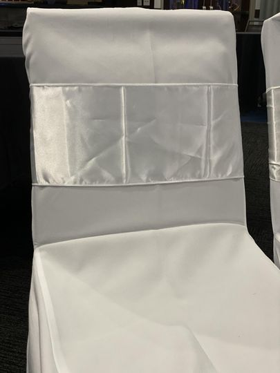 Ivory satin front