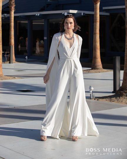 Bridal jumpsuit and a bolero