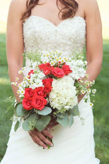 Garden styled bridal bouquet