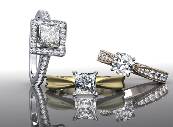 Custom made engagement rings in San Clemente CA. Crafted in your choice of platinum, white gold,...