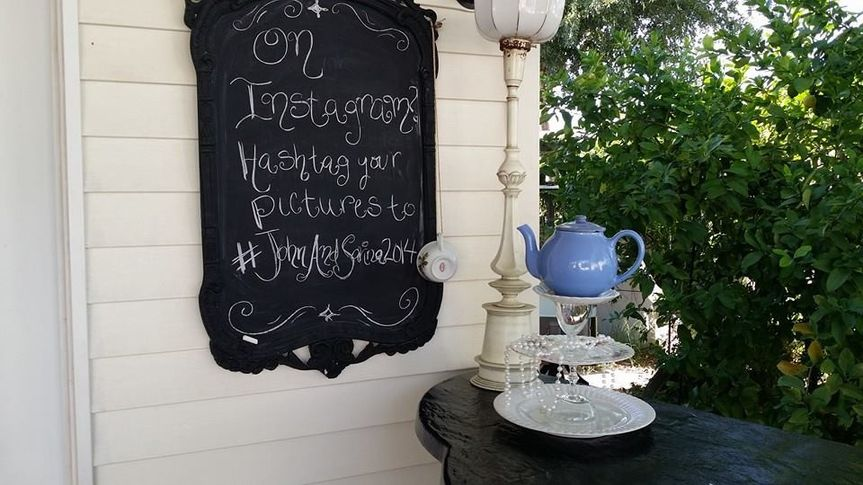 Teapot by the signboard