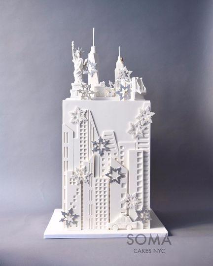 NYC wonderland cake