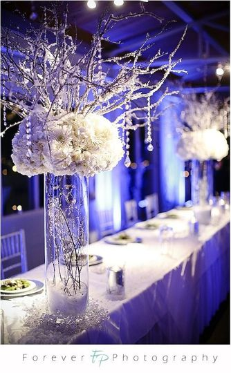 winter wonderland head table decor
