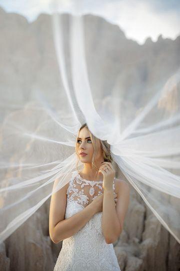 A dreamy veil shot