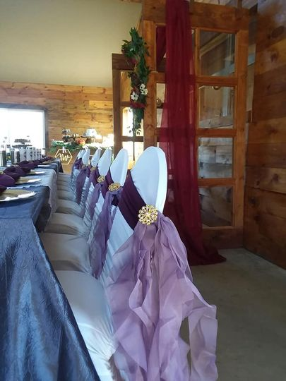 Head table and chair covers