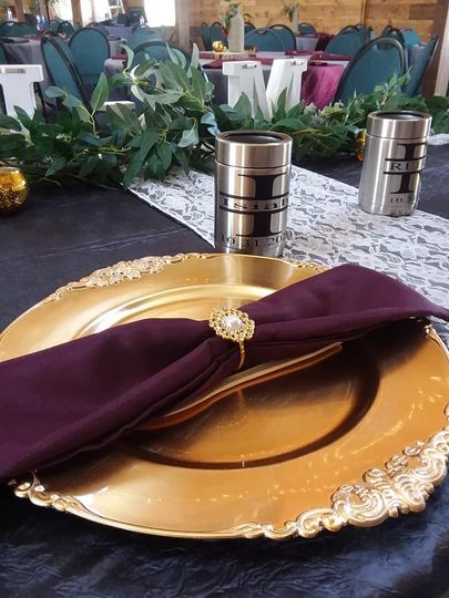Place setting on head table