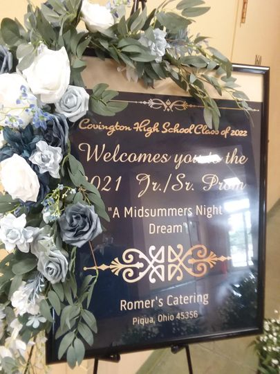 Prom Welcome signage