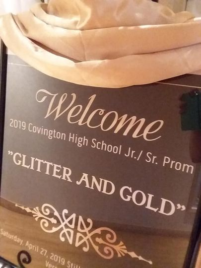 Welcome set up for Prom
