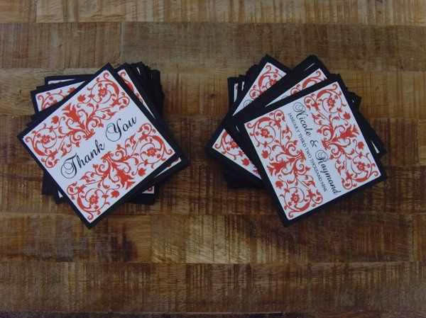 Custom Designed and Assembled Thank You Tags for Favors
