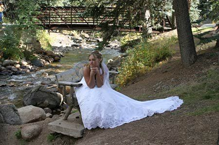 Bride's riverside portrait