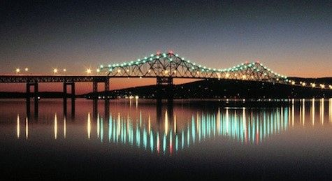 View of the Tappan Zee Bridge at Night