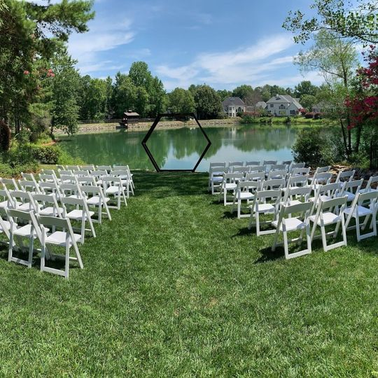 Chairs and Hexagon Arch