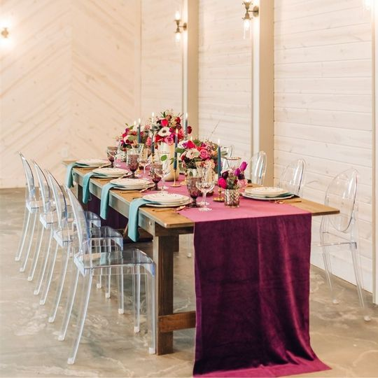 Farm Table and Ghost Chairs