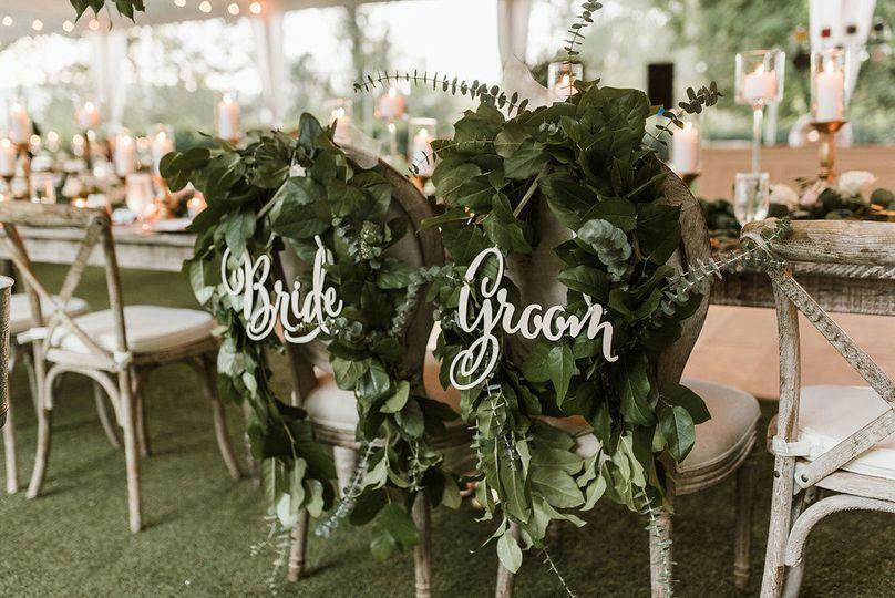 Bride & Groom Barnsley Gardens