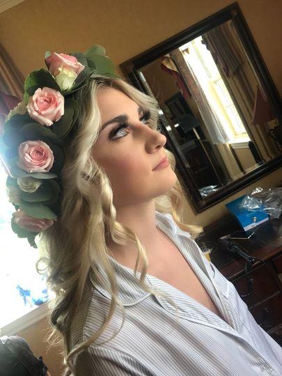 Bride in a flower crown