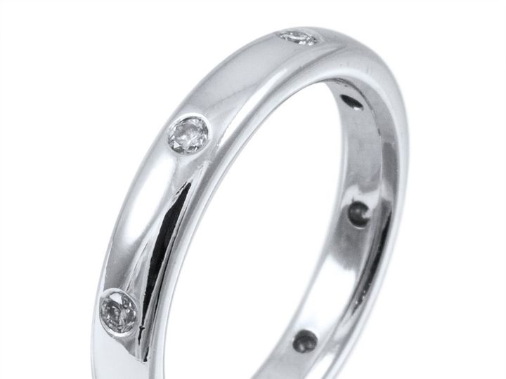 Tmx Half Rounded White Gold Wedding Band With Burnished Diamonds For Elegant And Still Sparkling Addition To The Wedding Set Priced Upon Request  51 29059 158048856678868 Boston wedding jewelry
