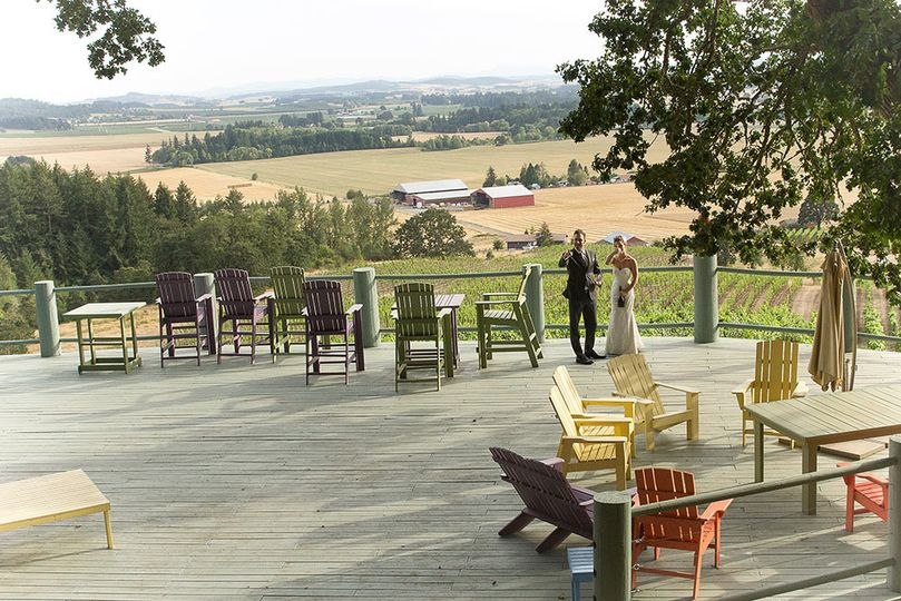 oregon vineyard wedding views