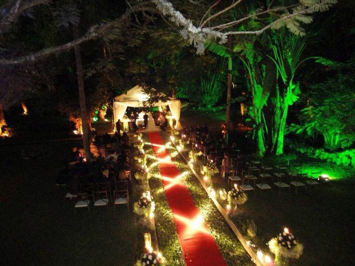 Illuminated Ceremony Walkway.