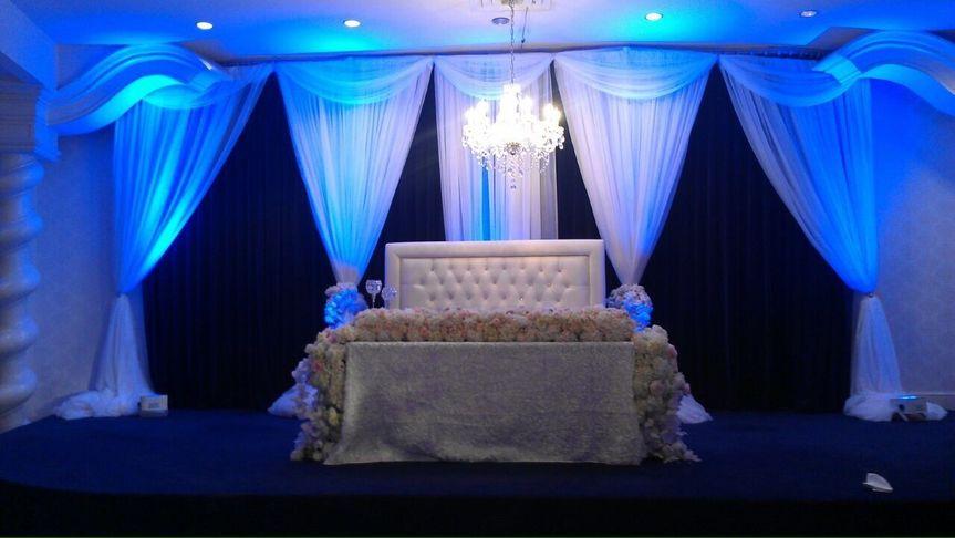 Stage Draping, White Lounge Furniture.