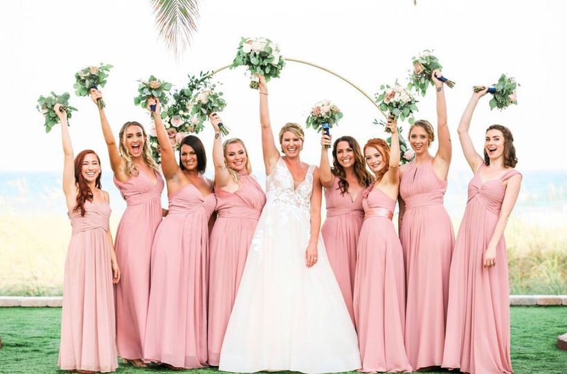 Bridesmaids on the Green
